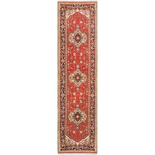 eCarpetGallery Serapi Heritage Brown Hand-knotted Wool Rug (2'7 x 10'1)