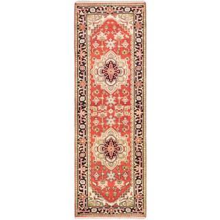 eCarpetGallery Serapie Heritage Brown Wool Hand-knotted Rug (2'7 x 7'11)