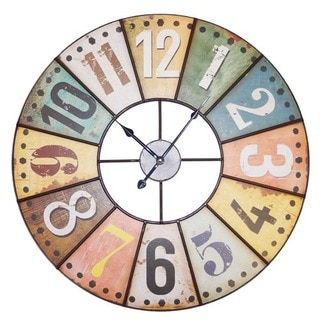 Rustic Metal 23-inch Wall Clock