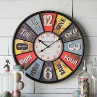 Metal Framed 23-inch Wall Clock