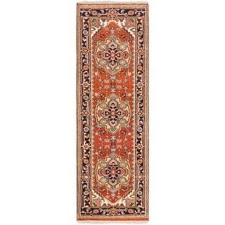 eCarpetGallery Serapi Heritage Brown/Red Wool Hand-knotted Runner Rug (2'8 x 8'0)