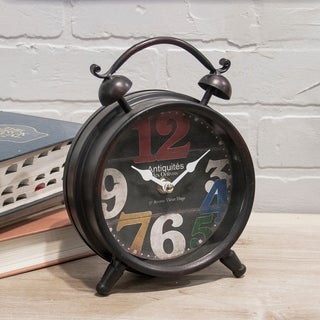 Multicolored Metal/ Glass Table Clock