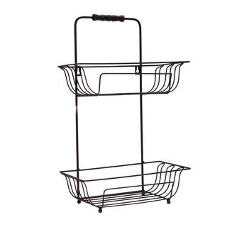 Metal 2-Shelf Bath Basket