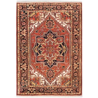 eCarpetGallery Serapi Heritage Brown Wool Hand-knotted Rug (4'0 x 5'9)