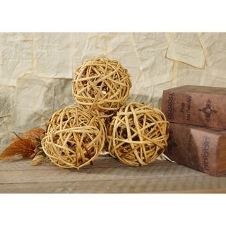Wooden 5-inch Decorative Filler Ball (Pack of 6)