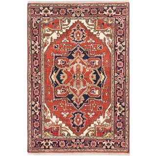 eCarpetGallery Serapi Heritage Brown Wool Hand-knotted Rug (4'0 x 5'10)