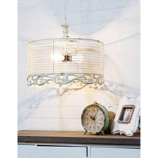 Off-white Metal Light Fixture