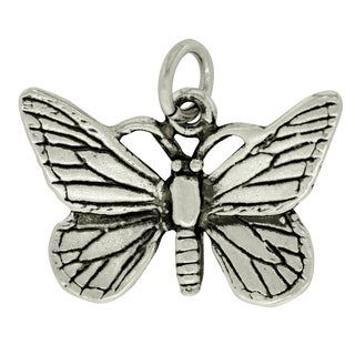 BSE Sterling Silver Medium Butterfly Charm