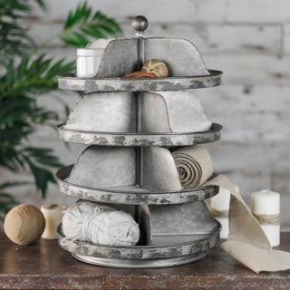 Black/Grey Metal 4-tier Organizer