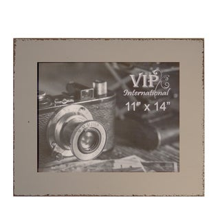 Grey MDF and Glass 11-inch x 14-inch Frame