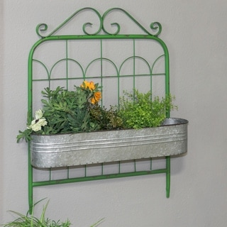 Green and Silver Metal Gate Planter