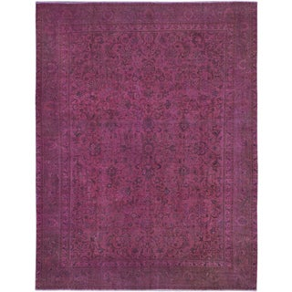 eCarpetGallery Pink Wool Hand-knotted Color-transition Rug (9'9 x 12'5)