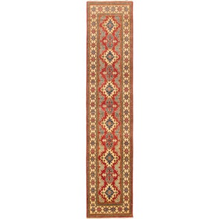 eCarpetGallery Hand-knotted Finest Gazni Red Wool Rug (2'4x11'1)