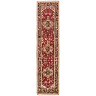 eCarpetGallery Serapi Heritage Orange Wool Hand-knotted Rug (2'6 x 10')