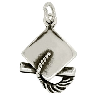 BSE Sterling Silver Graduation Cap and Degree Charm