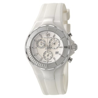 Technomarine Women's Cruise White Ceramic Case/Silicone Strap Quartz Watch