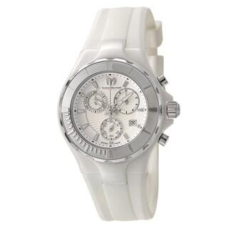 Technomarine Women's Cruise White Ceramic Case/Silicone Strap Quartz Watch