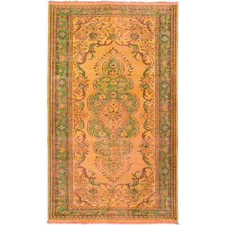eCarpetGallery Color Transition Orange Wool and Cotton Hand-knotted Oriental Area Rug (5'7 x 9'6)