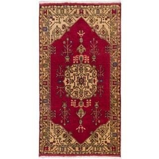 eCarpetGallery Konya Anatolian Red Wool Hand-knotted Oriental Area Rug (5'3 x 9'10)