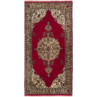 eCarpetGallery Konya Anatolian Red Wool Hand-knotted Rug (5'0 x 9'6)