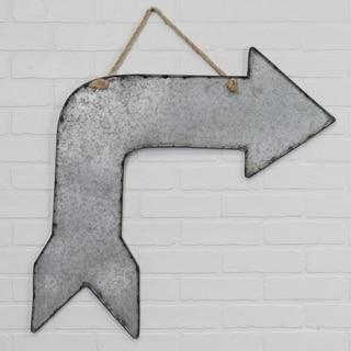 Grey Metal Arrow Sign