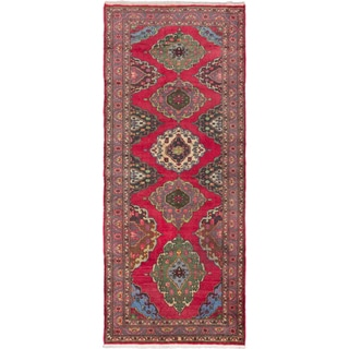 eCarpetGallery Red Wool Hand-knotted Konya Anatolian Rug (5'0 x 12'0)