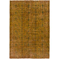 eCarpetGallery Brown Wool Hand-knotted Color Transition Rug (6'1 x 8'7)
