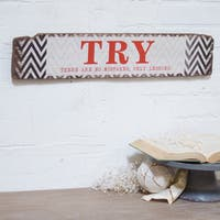 Red, White, and Brown Wood 24-inch 'Try' Sign