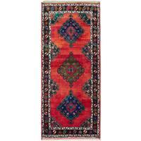 eCarpetGallery Konya Anatolian Red Wool Hand-knotted Runner Rug (4'10 x 11'0)