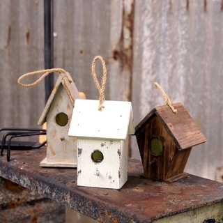 Wooden Birdhouse (Set of 3)
