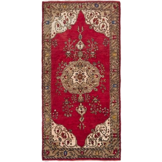 eCarpetGallery Hand-knotted Konya Anatolian Red Wool Oriental Area Rug (4'8 x 9'1)