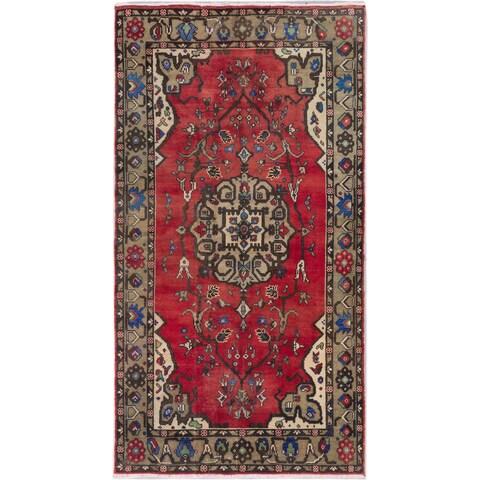 ecarpetgallery Hand-Knotted Konya Anatolian Red Wool Rug (5'3 x 9'7)