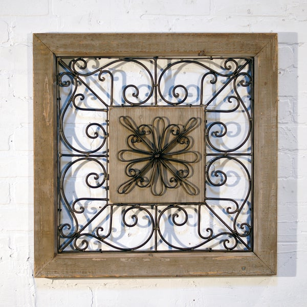 fascinating Square Metal Wall Decor Part - 5: Shop Square Metal Wall Decor - Free Shipping Today - Overstock.com -  12916064