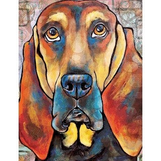 Marmont Hill - 'Pop Art Bloodhound II' Painting Print on Wrapped Canvas