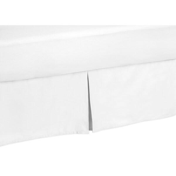Sweet Jojo Designs Solid White Queen-size Bedskirt