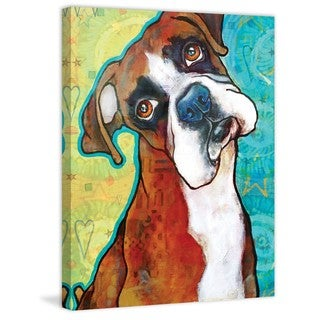 Marmont Hill - 'Fawn Boxer' Painting Print on Wrapped Canvas