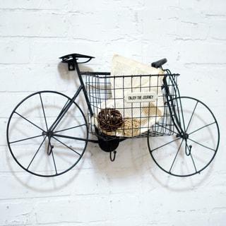 Metal Bike Wall Basket