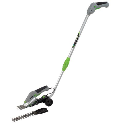 Earthwise Grey/Green/Silver Metal Cordless Garden Trimmer Combo with Walking Pole