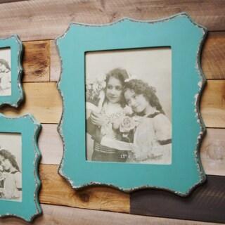 Blue MDF/Glass 11-inch x 14-inch Frame