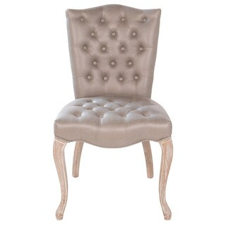 Victoria Button Tufted Leather Dining Chair