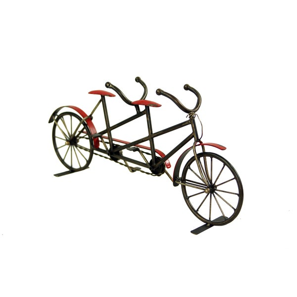 Metal Red and Black Bicycle Decoration