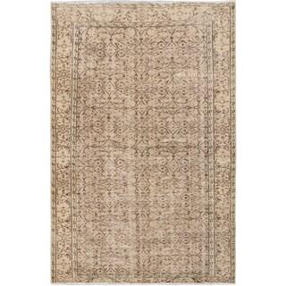 eCarpetGallery Vintage Blue/Ivory Wool Hand-knotted Keisari Rug (5'11 x 8'10)