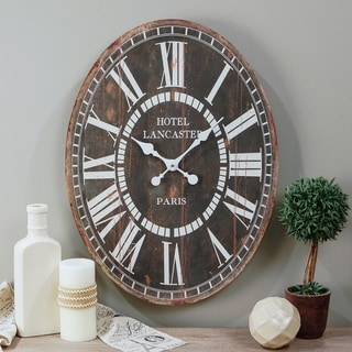 WD. OVAL CLOCK 23""