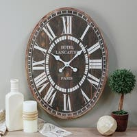 WD. Oval Wall Clock
