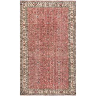 eCarpetGallery Hand-Knotted Keisari Vintage Brown Wool Rug (5'11 x 10')