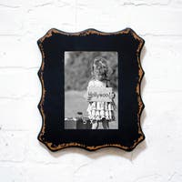 Black Wood and Glass 5-inch x 7-inch Picture Frame