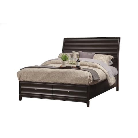Alpine Furniture Legacy Storage Panel Bed Black