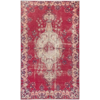 eCarpetGallery Melis Vintage Red Wool Hand-knotted Rug (5'6 x 9'1)