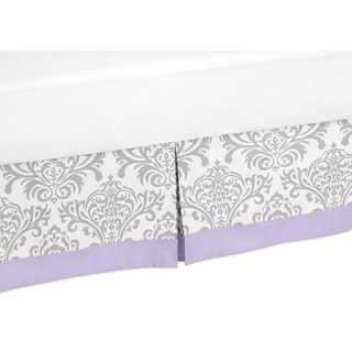 Sweet Jojo Designs Lavender and Grey Elizabeth Queen-size Bedskirt
