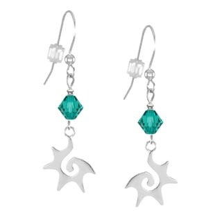 Jewelry by Dawn Teal Starburst Sterling Silver Earrings